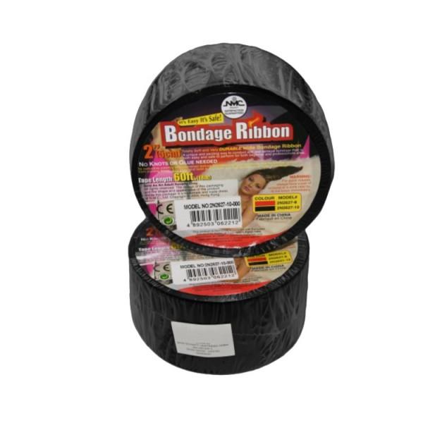 Černá poutací páska - Bondage Ribbon
