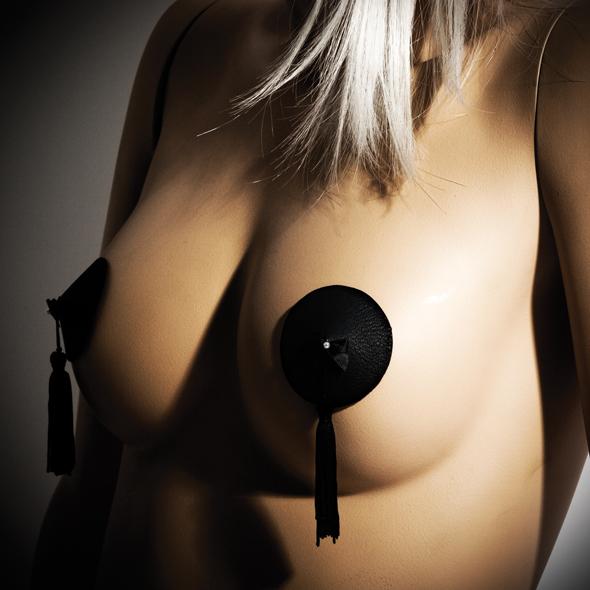 Bijoux indiscrets - bourlesque pasties black se střapcem