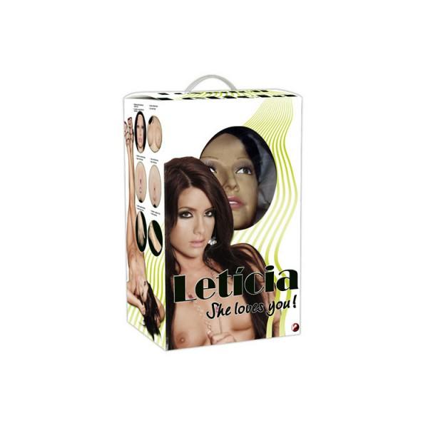 Luxusní nafukovací panna s reálnými otvory - Leticia love doll