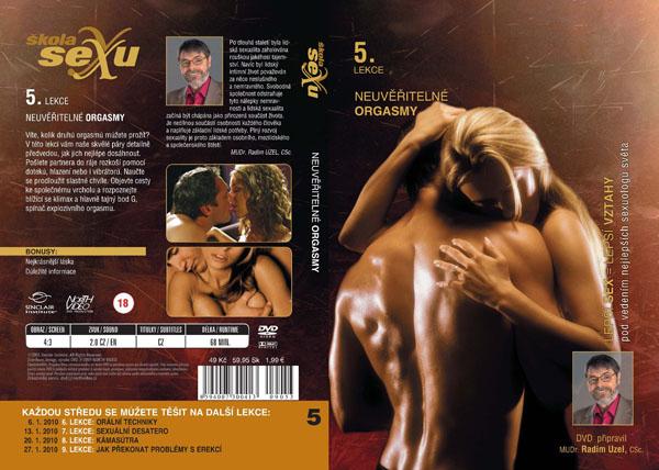 Škola sexu 5. lekce neuvěřitělné orgasmy - erotický film na DVD