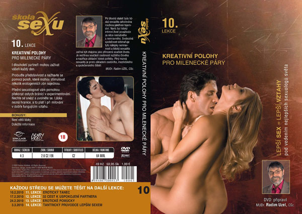 Škola sexu 10. lekce Kreativní polohy pro milenecké páry - erotický film na DVD