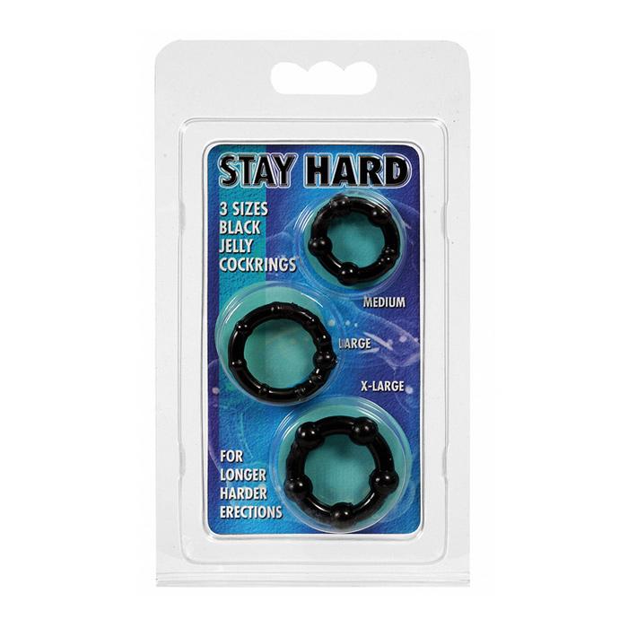 Erekční kroužek černý - Stay Hard