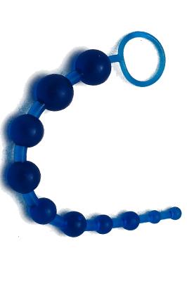 Gelové anální korále modré barvy
