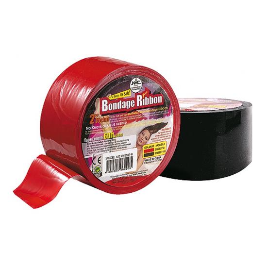 Poutací bondage páska - červená