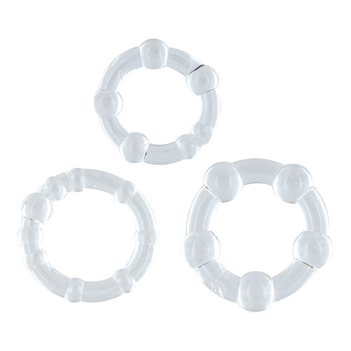 Škrtící kroužky čiré - 3 ks v sadě