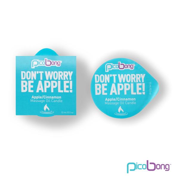 Masážní olejová svíčka - PicoBong Jablko & Skořice 15 ml