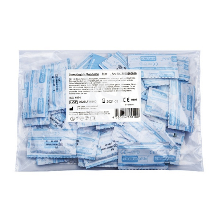 Kvalitní Německé kondomy Smoothglide 100ks v balení